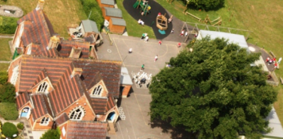 Churcham Primary School -  aerial-s